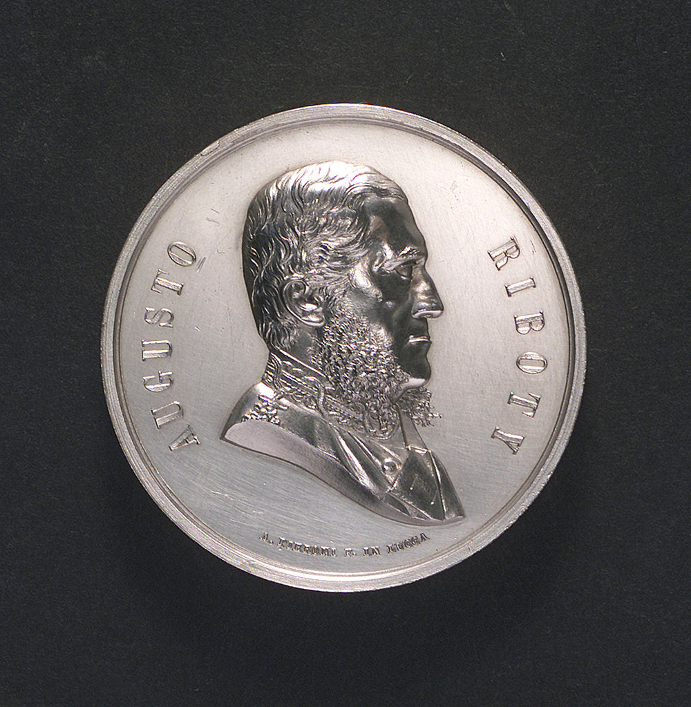 Detail of Medal commemorating Admiral Riboty; obverse by A. Pieroni