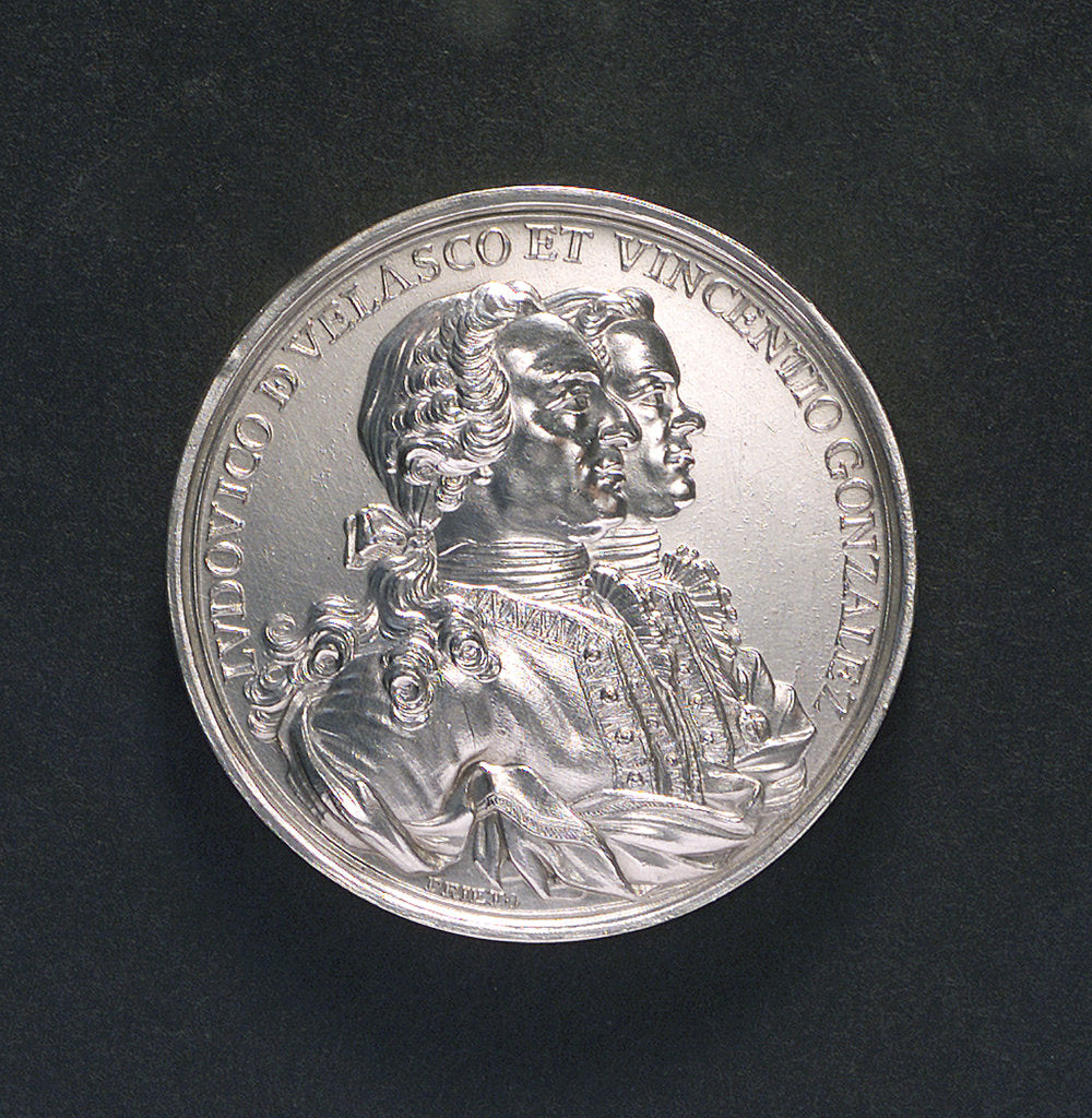Detail of Medal commemorating the defence of Havana, 1763; obverse by T. F. Prieto