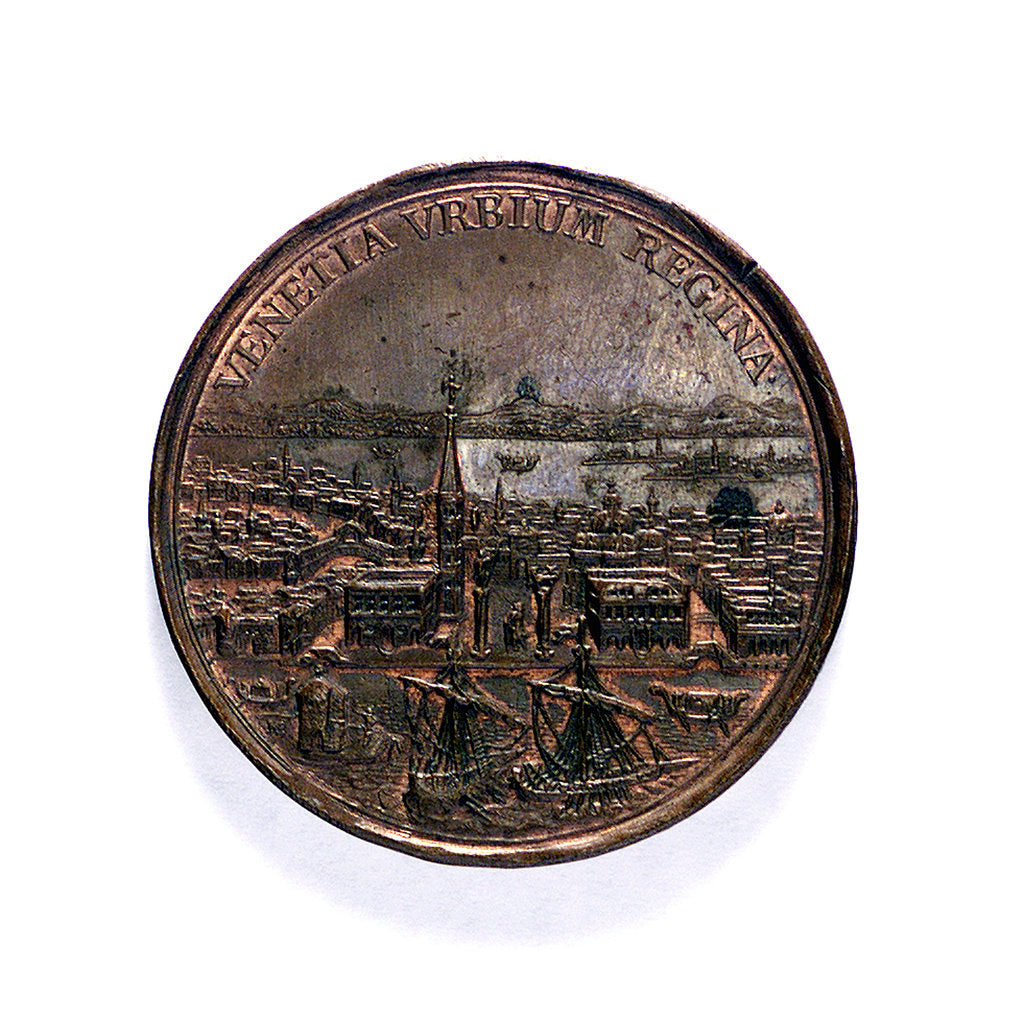 Detail of Medal commemorating the capture of the Morea and other successes, 1687; obverse by Martin Brunner
