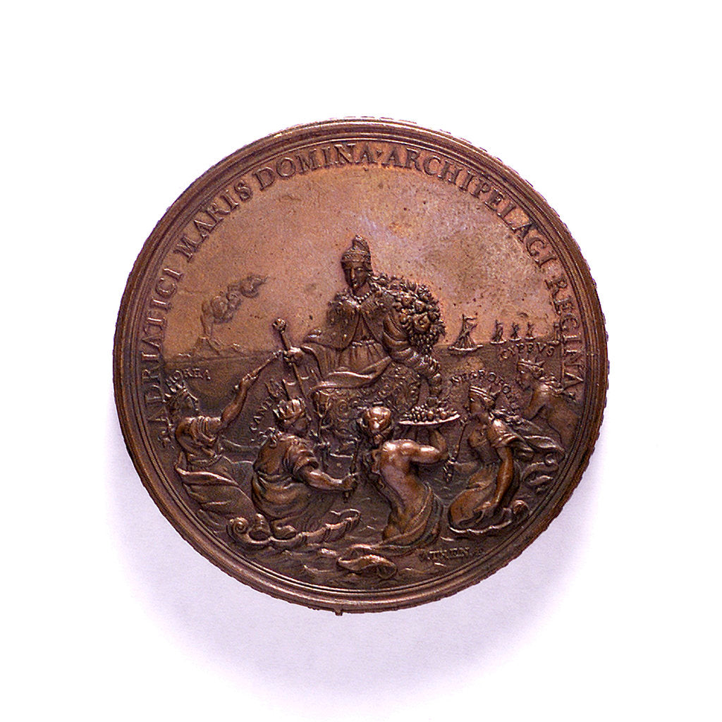 Detail of Medal commemorating the Venetian command of the sea; reverse by P.H. Muller