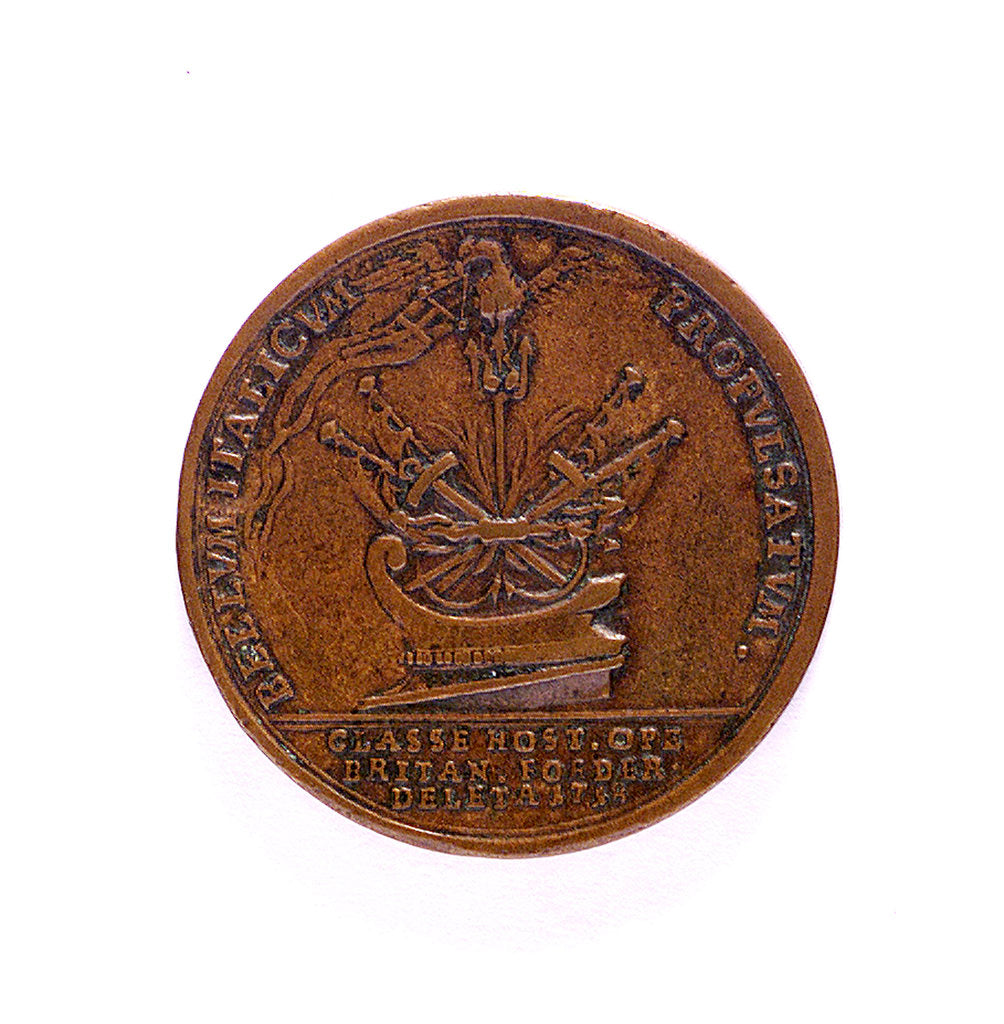 Medal commemorating the Battle of Cape Passaro, 1718; obverse by B. Richter