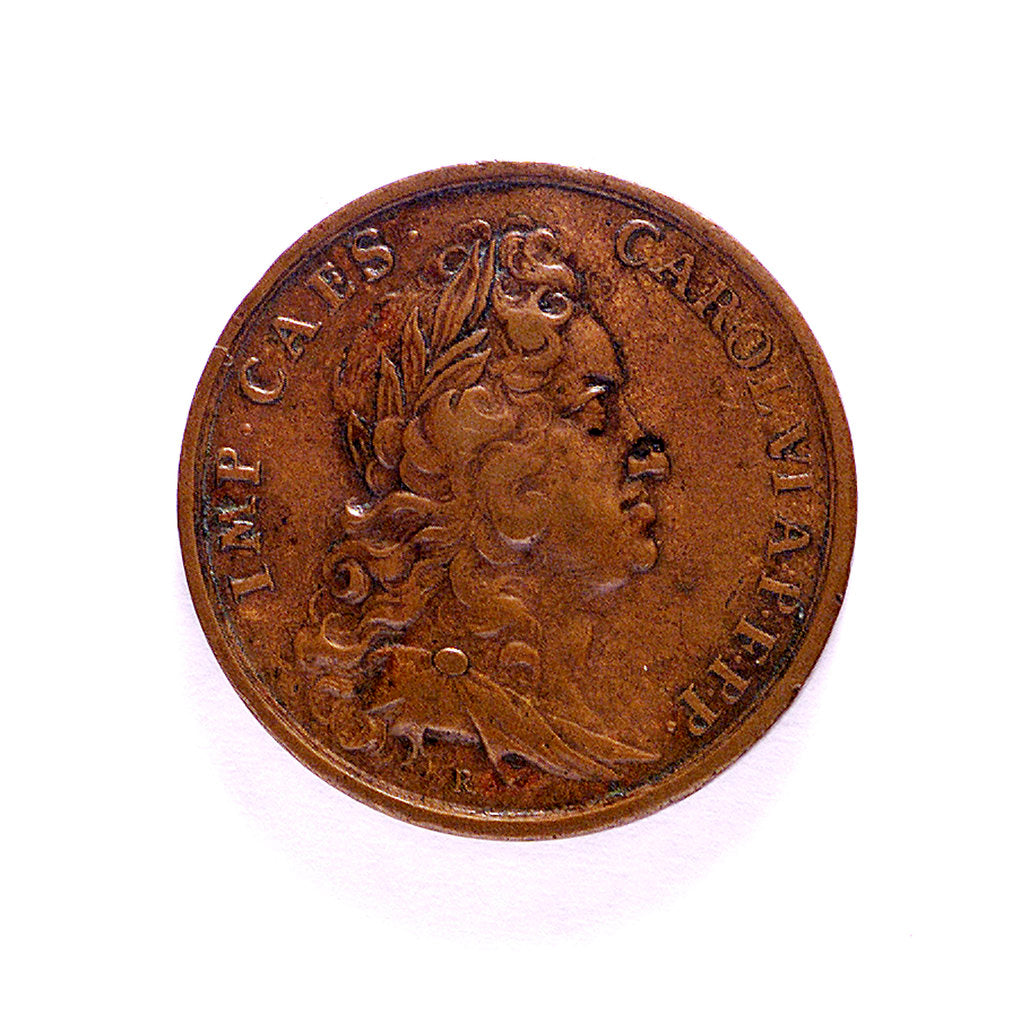 Detail of Medal commemorating the Battle of Cape Passaro, 1718; reverse by B. Richter