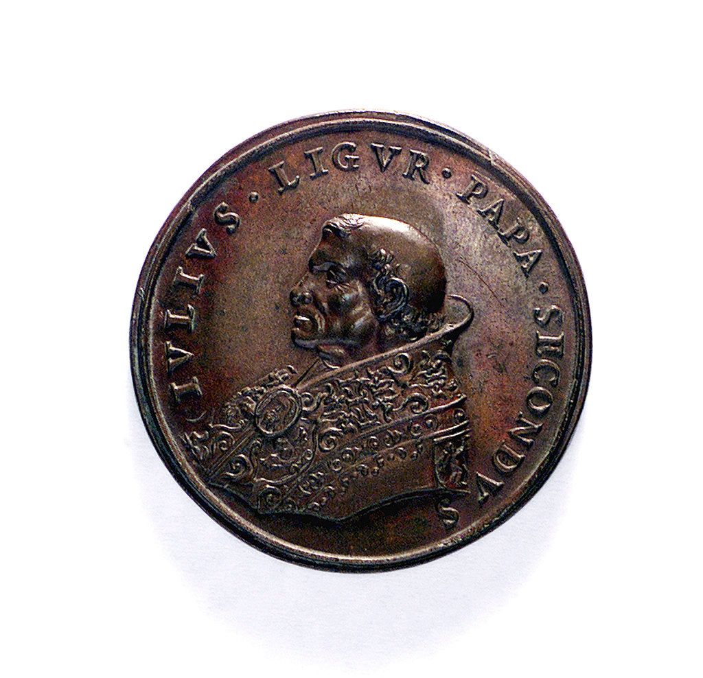 Detail of Medal commemorating Civitavecchia fortified; obverse by unknown