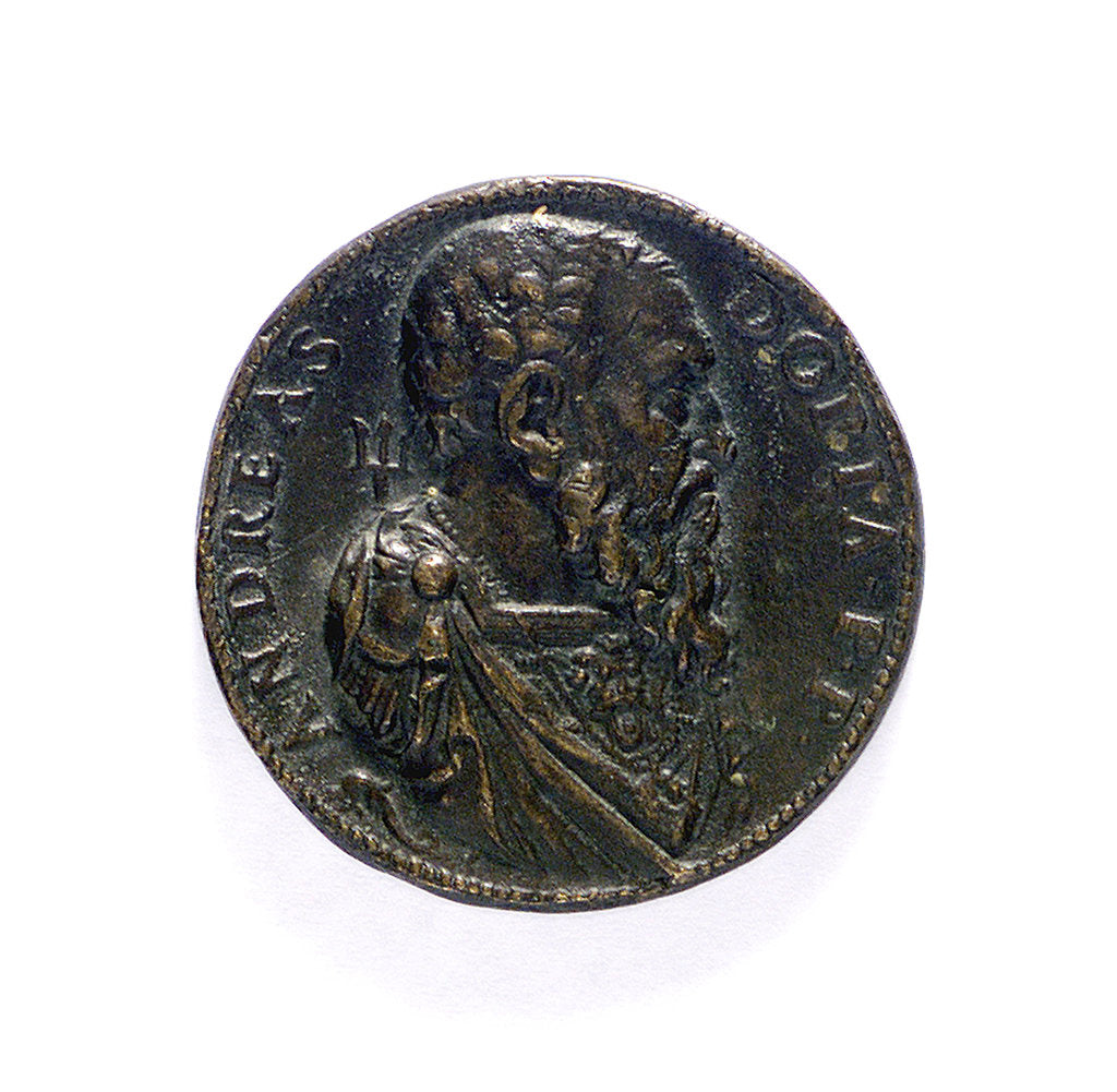 Detail of Medal commemorating  Admiral Andrea Doria (1468-1560); obverse by L. Leoni