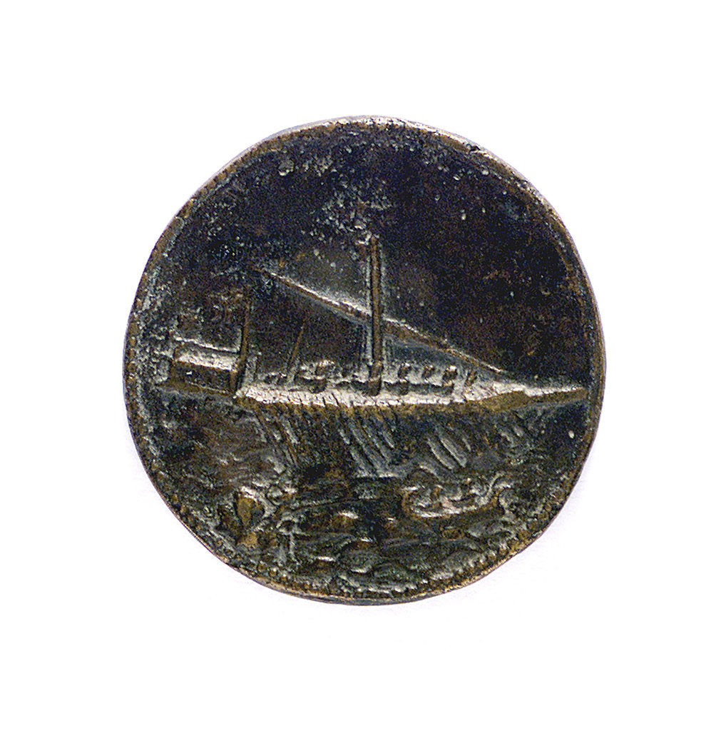 Detail of Medal commemorating  Admiral Andrea Doria (1468-1560); reverse by L. Leoni