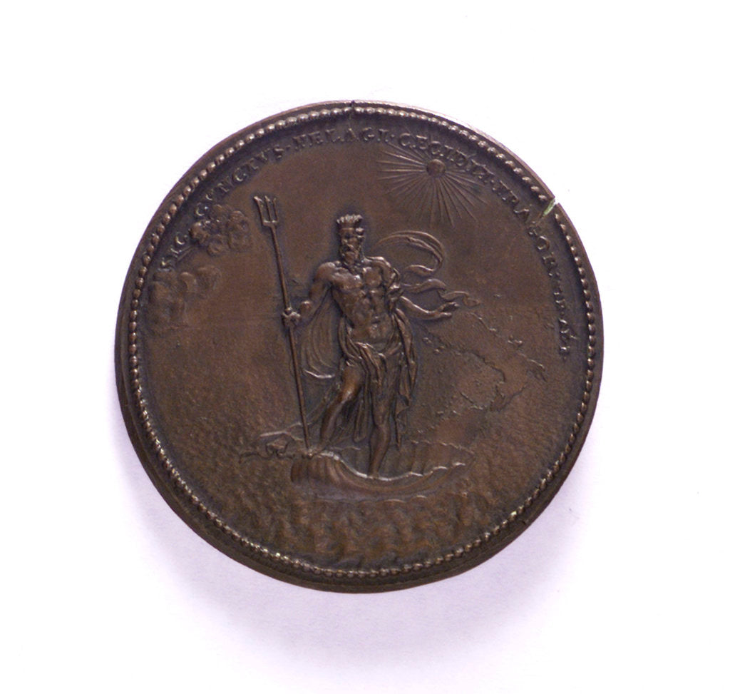 Medal commemorating the voyage to Naples of  Philip V of Spain, 1702; reverse by S. Vreani