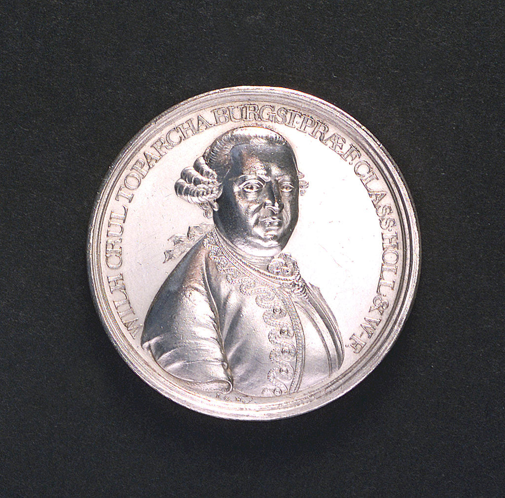 Detail of Medal commemorating Admiral Willem Crul of Holland and West Friesland; obverse by Johann Georg Holtzhey