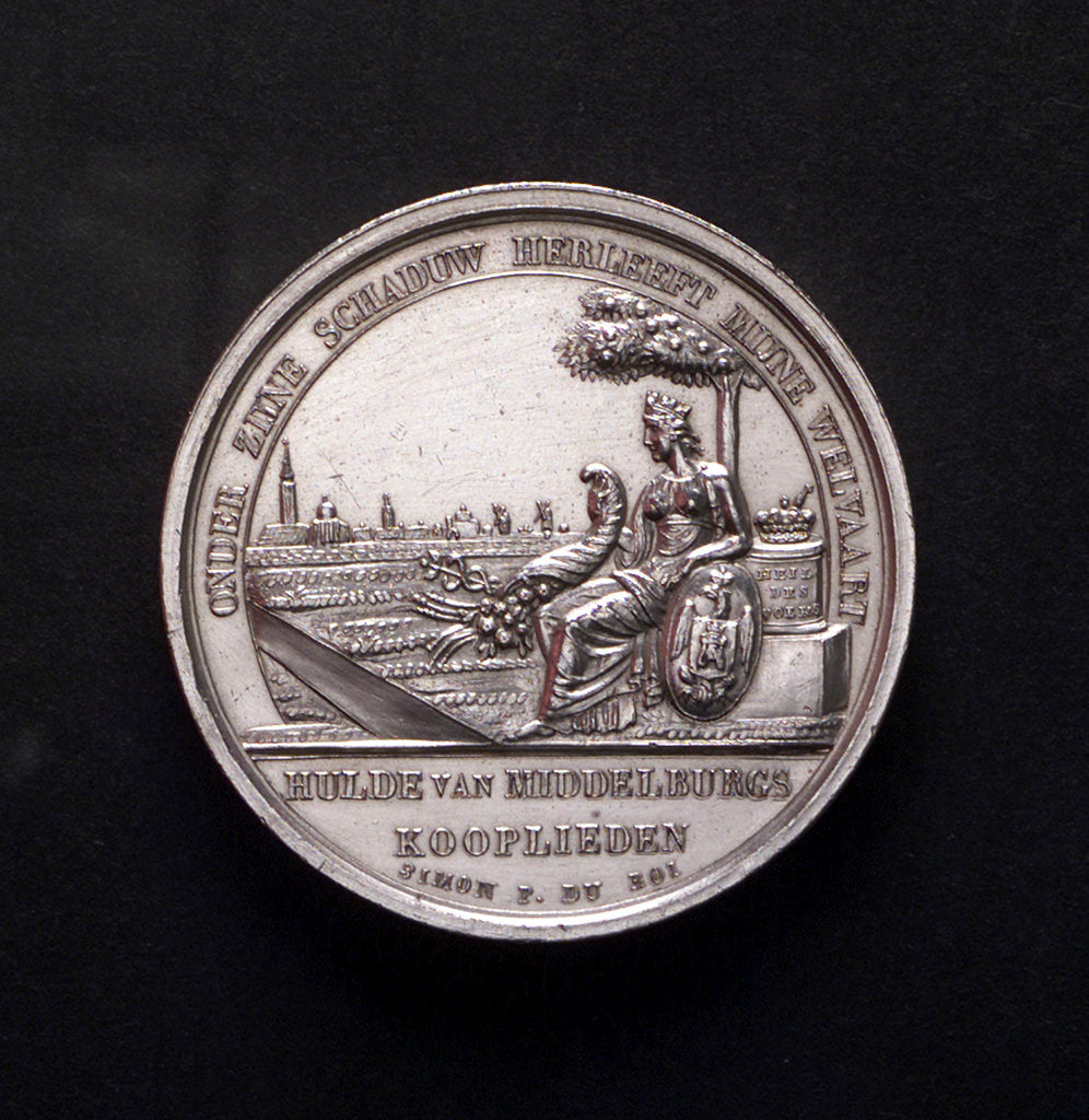 Detail of Medal commemorating the opening of the new harbour of Middelburg, 1817; obverse by Simon and Bourje