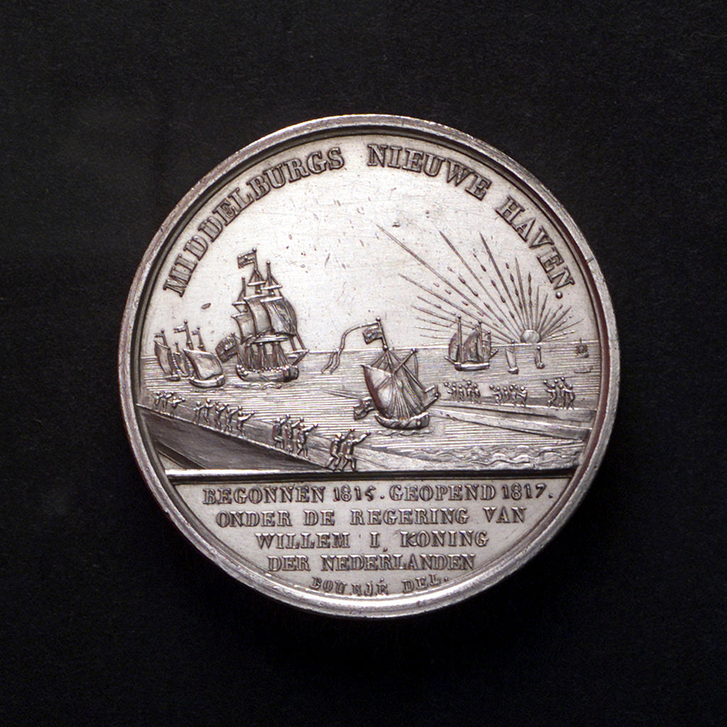Detail of Medal commemorating the opening of the new harbour of Middelburg, 1817; reverse by Simon and Bourje