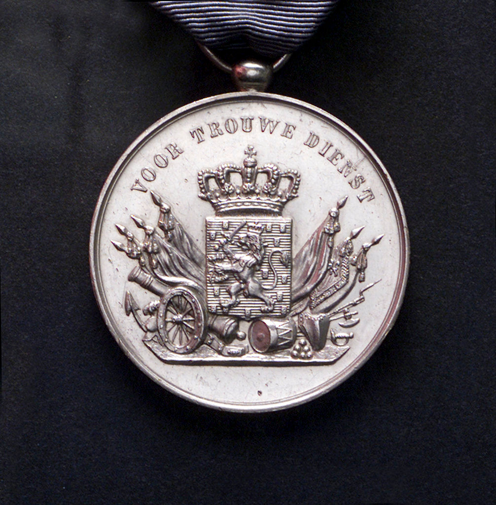 Detail of Medal commemorating the Dutch naval service; obverse by unknown