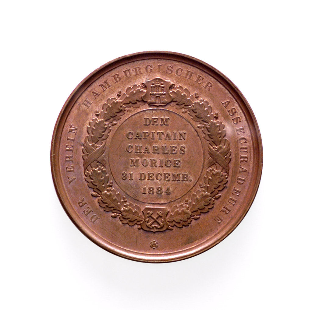 Detail of Medal commemorating the Hamburg Society of Underwriters; reverse by unknown