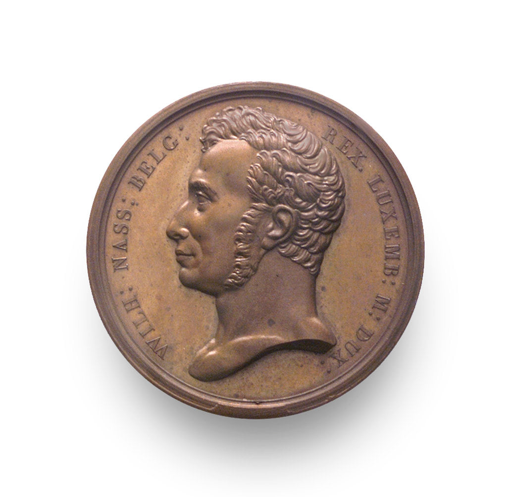Detail of Medal commemorating the expedition to Palembang, 1821; obverse by A.F. Michaut