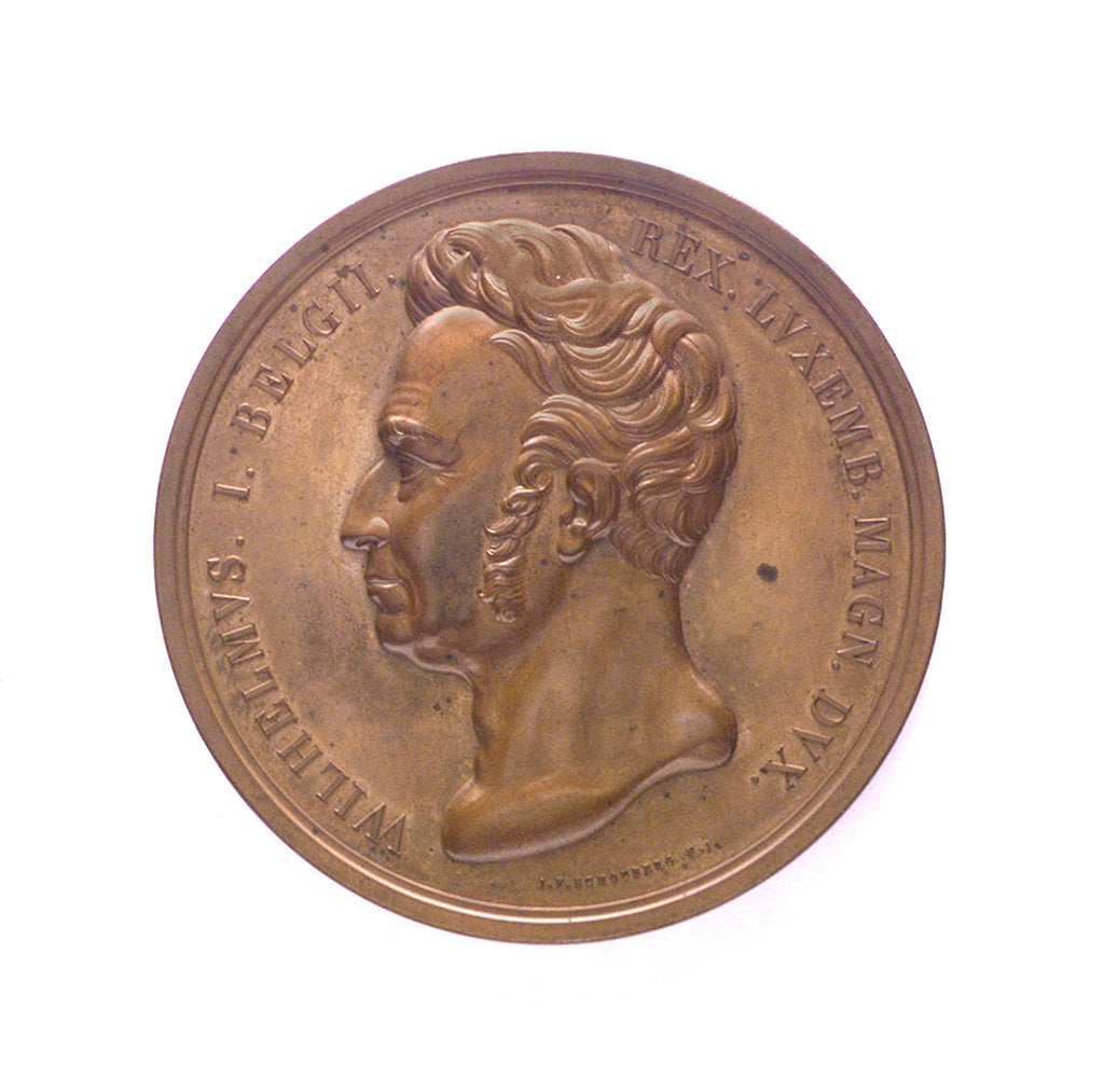 Medal commemorating the opening of the North Sea Canal, 1824; obverse by J.P. Schouberg