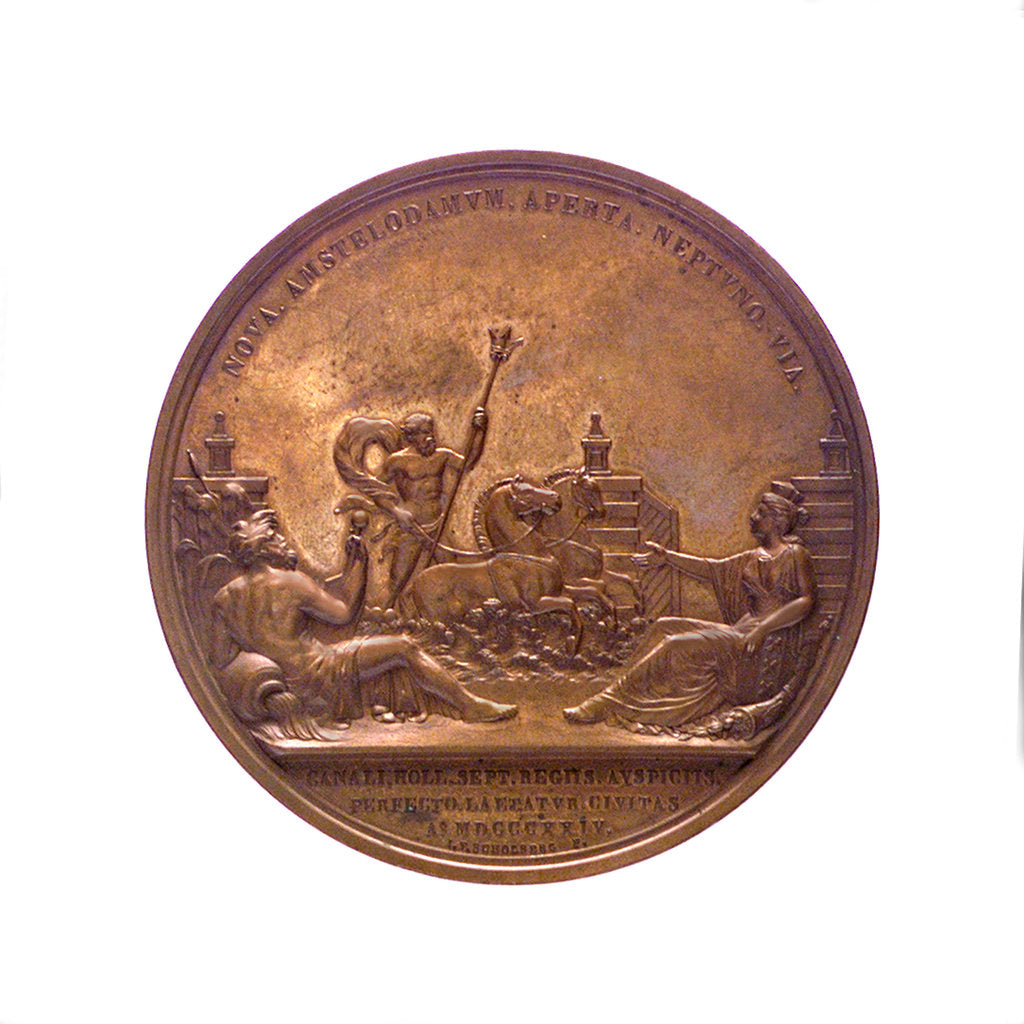 Detail of Medal commemorating the opening of the North Sea Canal, 1824; reverse by J.P. Schouberg