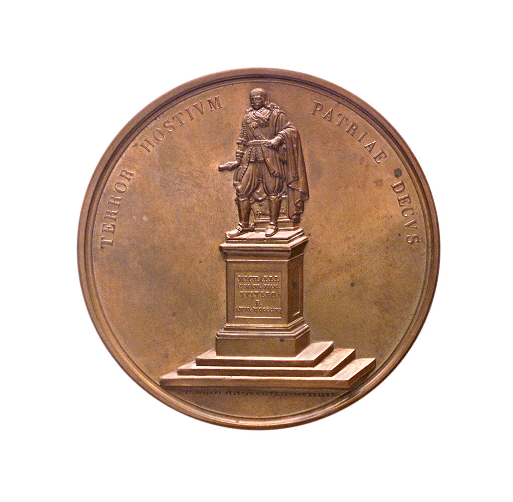 Detail of Medal commemorating Admiral de Ruyter; obverse by D. van der Kellen Junior