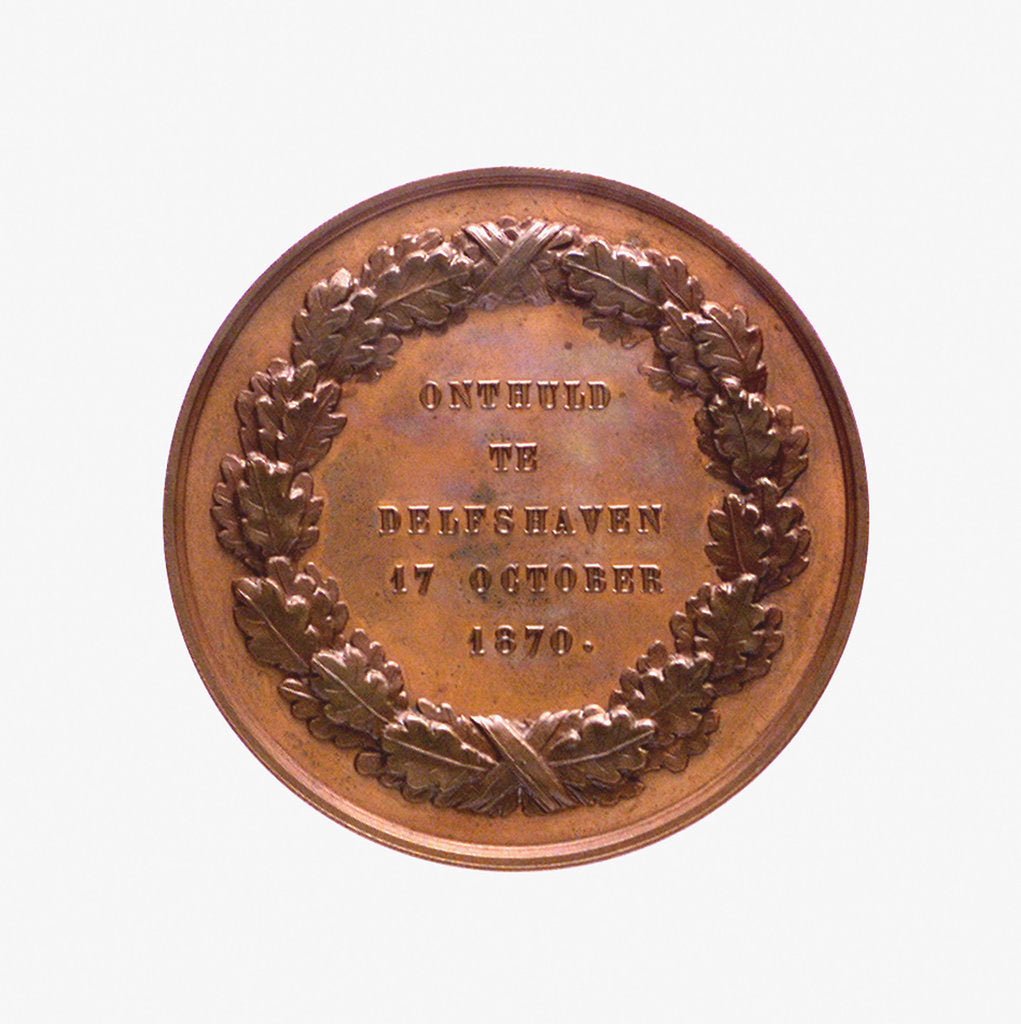 Detail of Medal commemorating Admiral Pieter Heyn (1578-1629); reverse by J.P.M. Menger