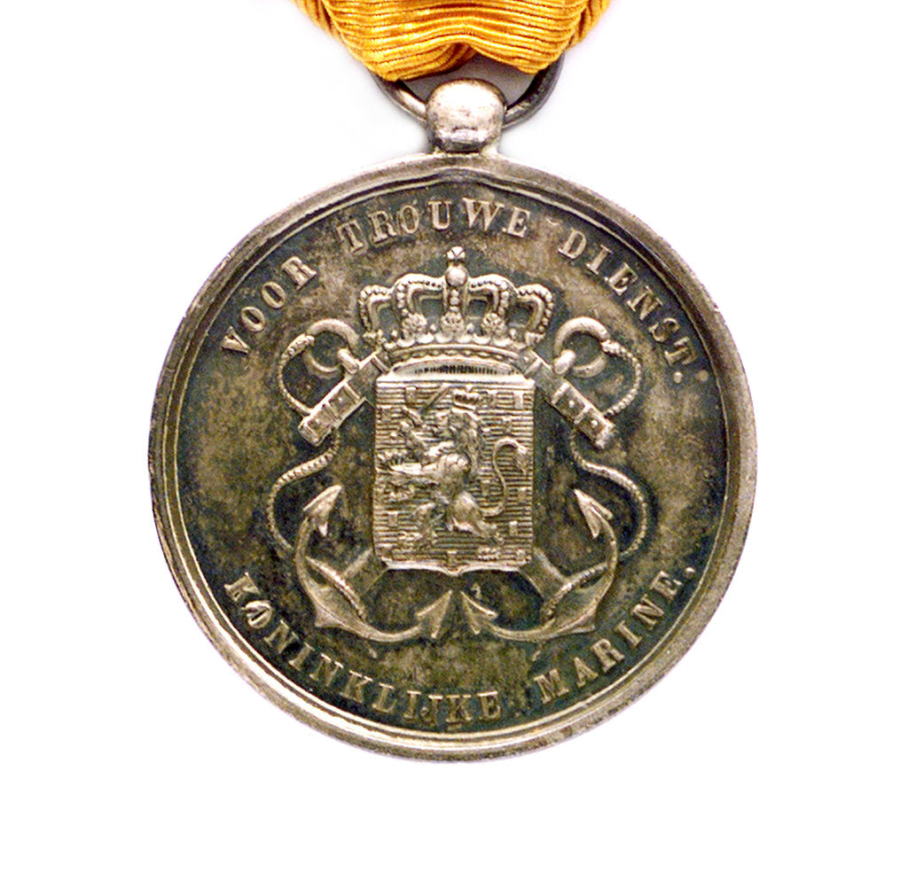 Detail of Medal commemorating the Dutch marine service; obverse by unknown