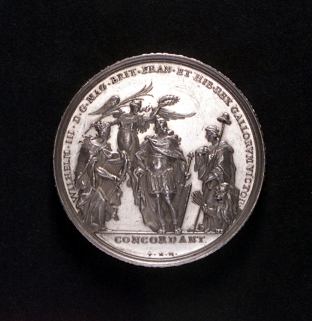 Detail of Medal commemorating the Battle of La Hogue, 1692; obverse by P.H. Muller