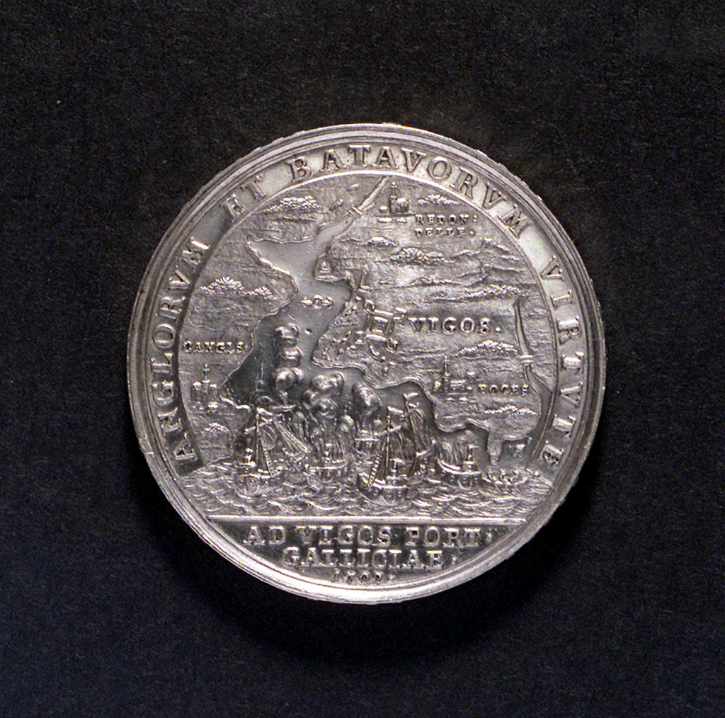 Detail of Medal commemorating the Expedition to Vigo Bay, 1702; reverse by unknown