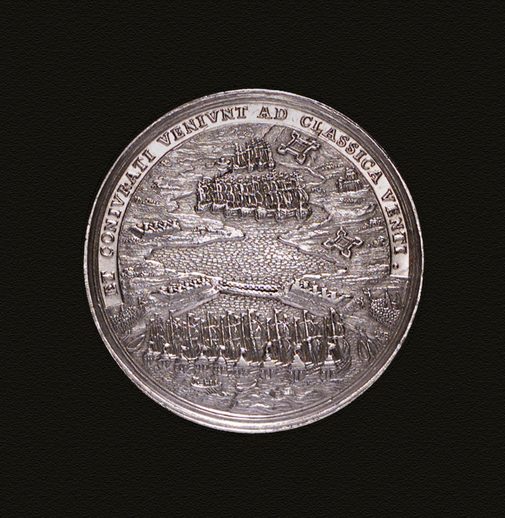 Medal commemorating the Expedition to Vigo Bay, 1702; reverse by G.F. Nurnberger
