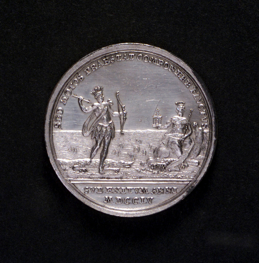 Detail of Medal safety at sea; reverse by P.P. Werner