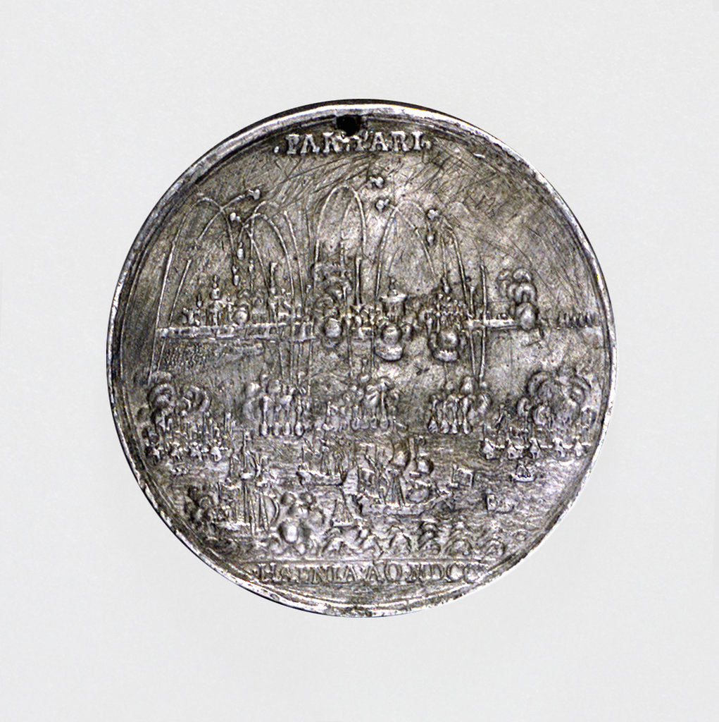 Medal commemorating the bombardment of Tönningen and Copenhagen, 1700 by unknown