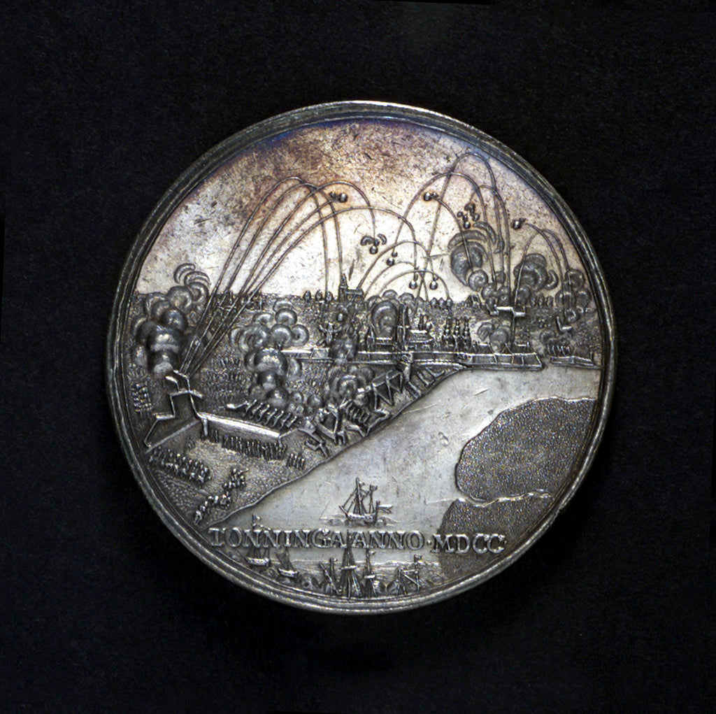 Detail of Medal commemorating the bombardment of Tönningen and Copenhagen, 1700 by unknown