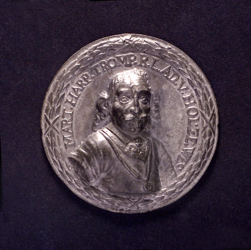 Detail of Medal commemorating the Battle of the Texel and the death of Admiral Tromp, 1653; obverse by O.M.