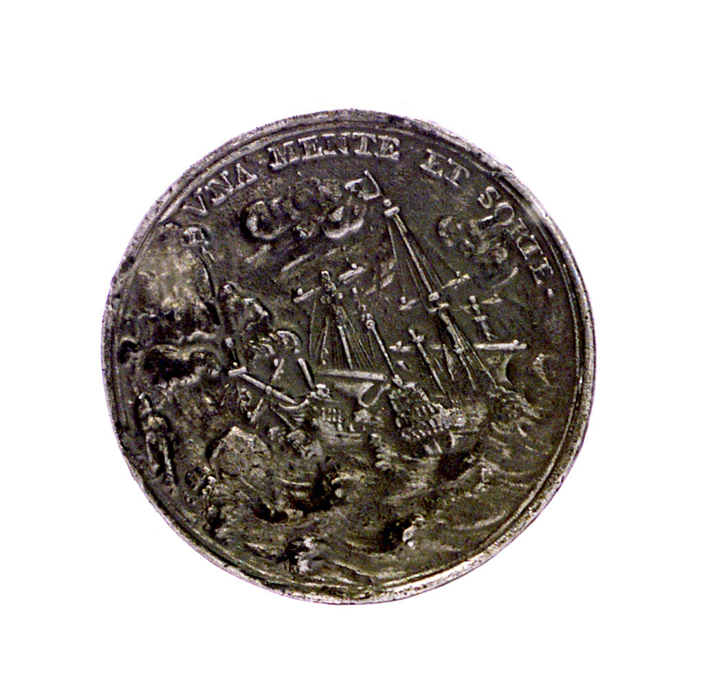 Detail of Medal commemorating John and Cornelis de Witt assassinated, 1672; reverse by unknown