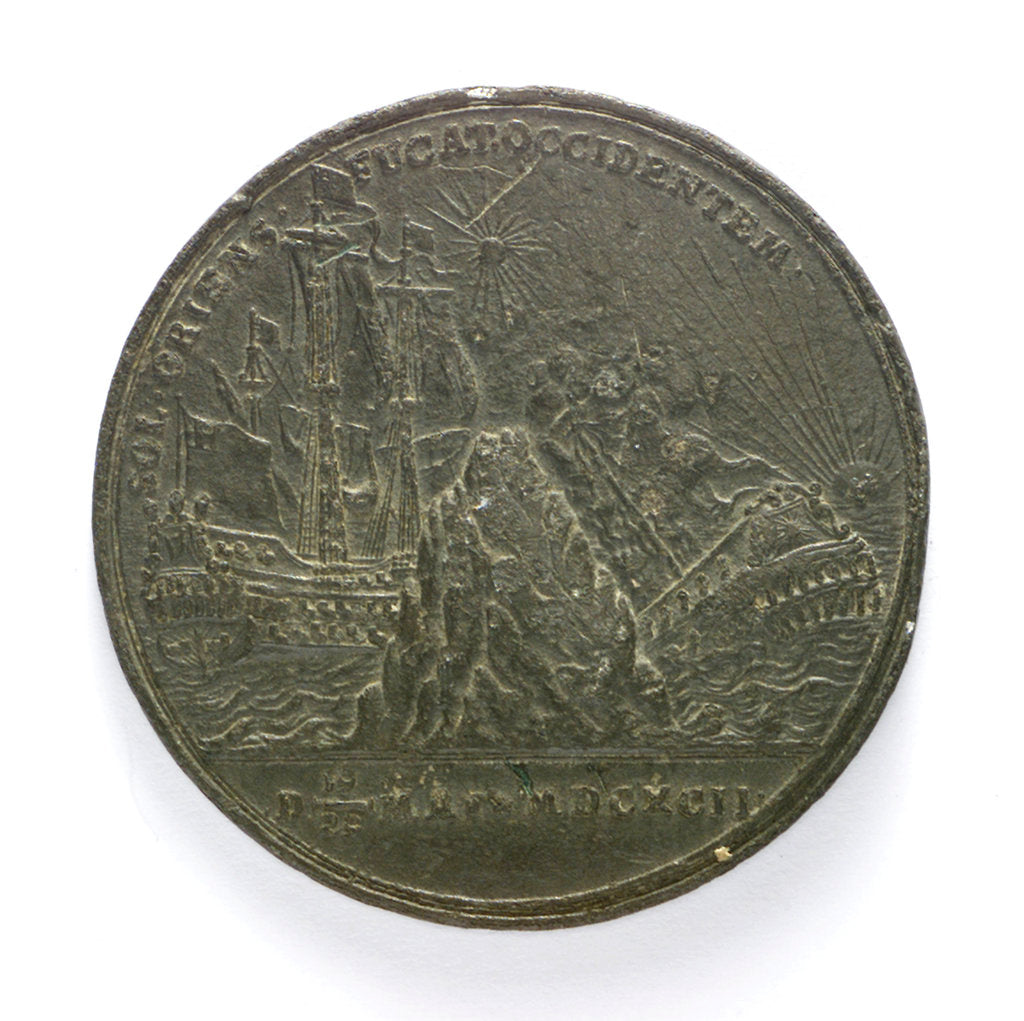 Medal commemorating the Battle of la Hogue, 1692; reverse by D.S.