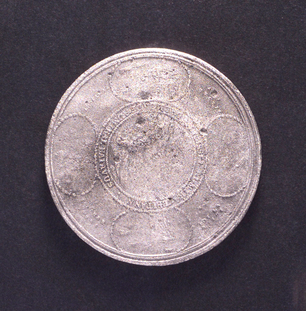 Detail of Medal commemorating the Battle of la Hogue, 1692; reverse by Jan Luder