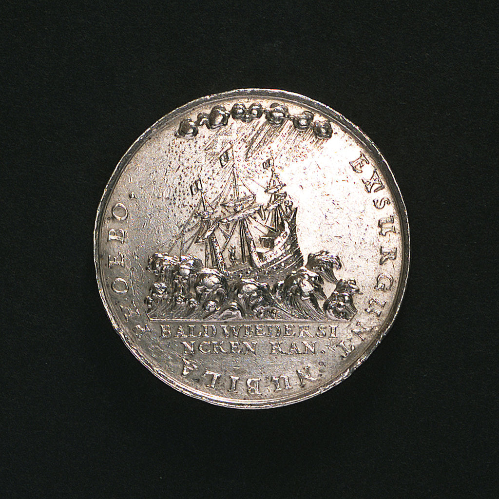 Detail of Medal commemorating the invasion of Prussia by Sweden; reverse by J. Bensheimer