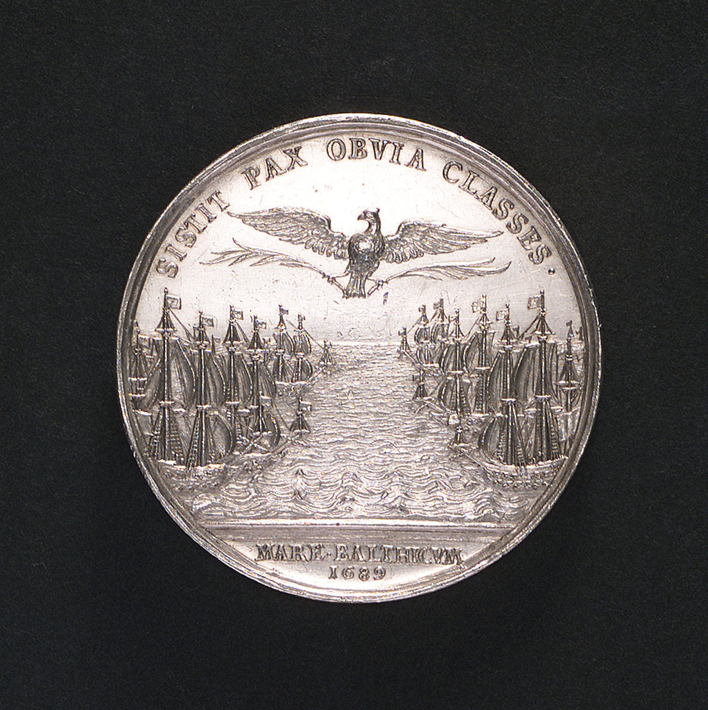 Medal commemorating the naval demonstration and the peace of Altona, 1689; reverse by A. Meibus