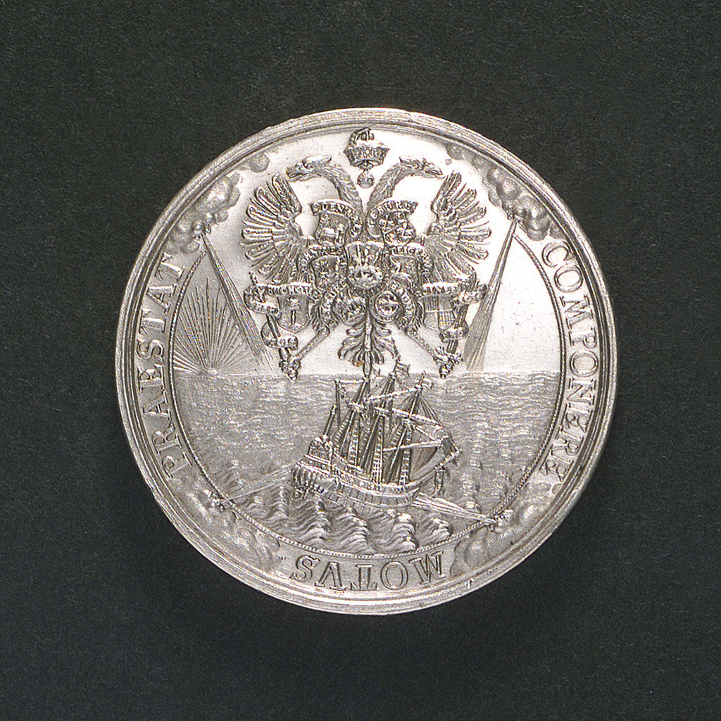 Detail of Medal commemorating the settlement of the dispute between Adalbert I and the Boineberg family; reverse by C. Wermuth