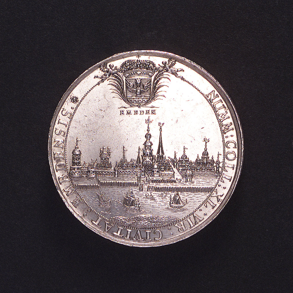 Detail of Medal commemorating the Emden College of Medallists; obverse by E. Brabandt