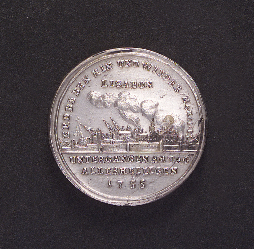 Detail of Medal commemorating the earthquake at Lisbon, 1755; reverse by unknown