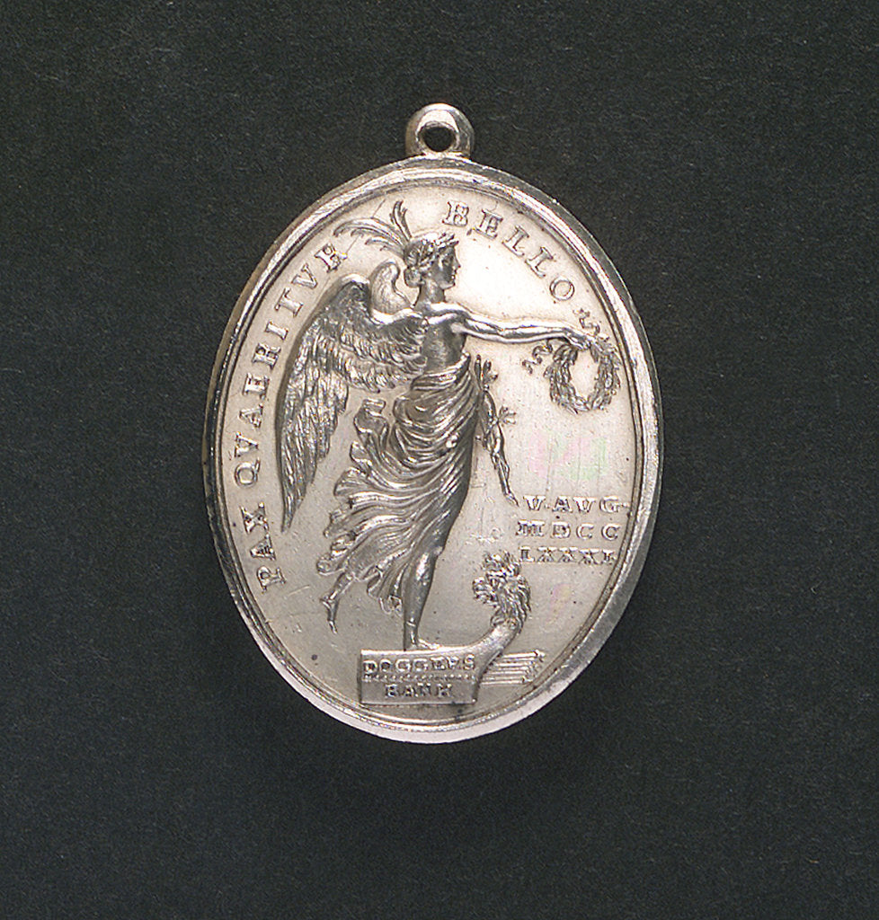 Detail of Medal commemorating the Battle of Dogger Bank, 1781; obverse by J.H. Schepp