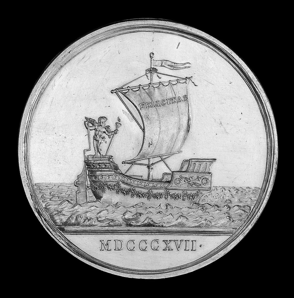 Detail of Medal commemorating the journey to Brazil of Archduchess Leopoldine of Austria, 1817; reverse by J.N. Lang