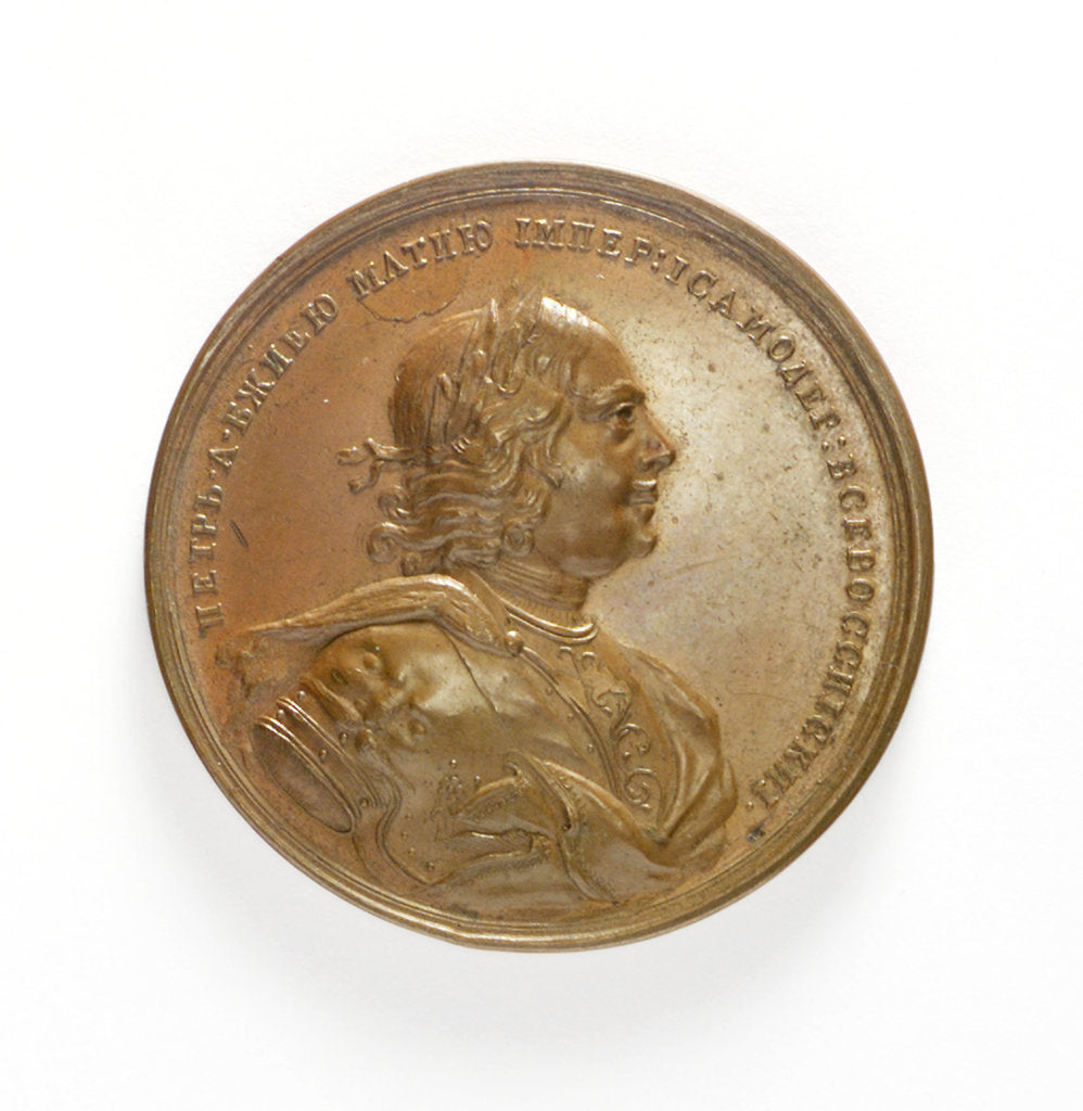 Detail of Medal commemorating the capture of two Swedish ships, 1703; obverse by unknown