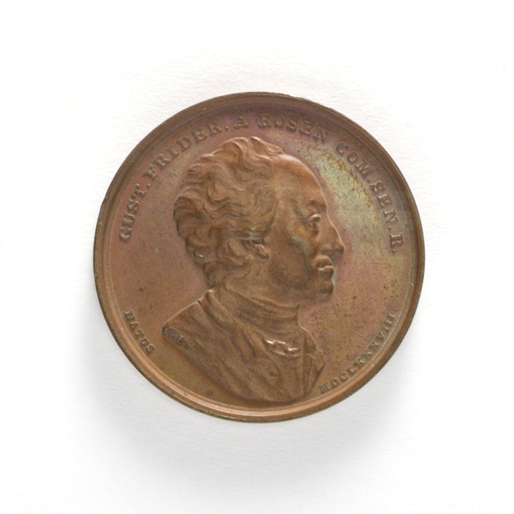 Detail of Medal commemorating Count Rosen Director of the Admiralty; obverse by L.P. Lundgren