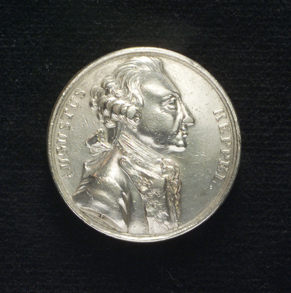 Detail of Medal commemorating Admiral Keppel acquitted, 1779; obverse by T. Lyng