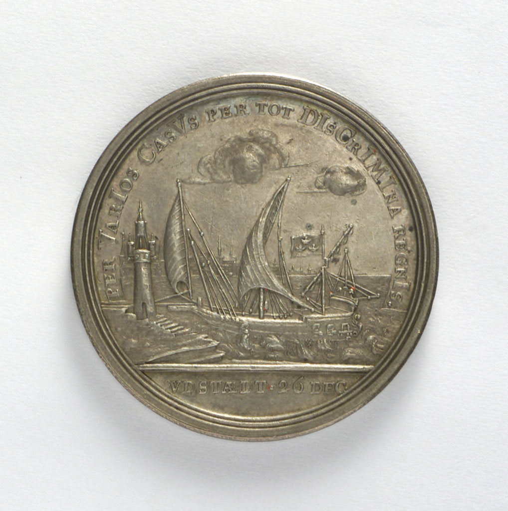Detail of Medal commemorating the escape of Charles XII from Stralsund, 1715; reverse by unknown