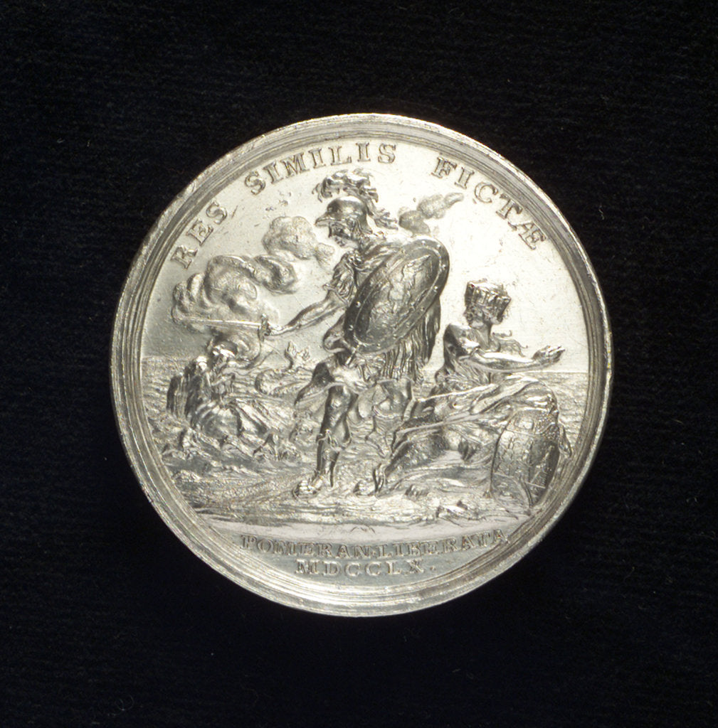 Detail of Medal commemorating the defence of Colberg and Paul von Werner, 1760; reverse by N. Georgi
