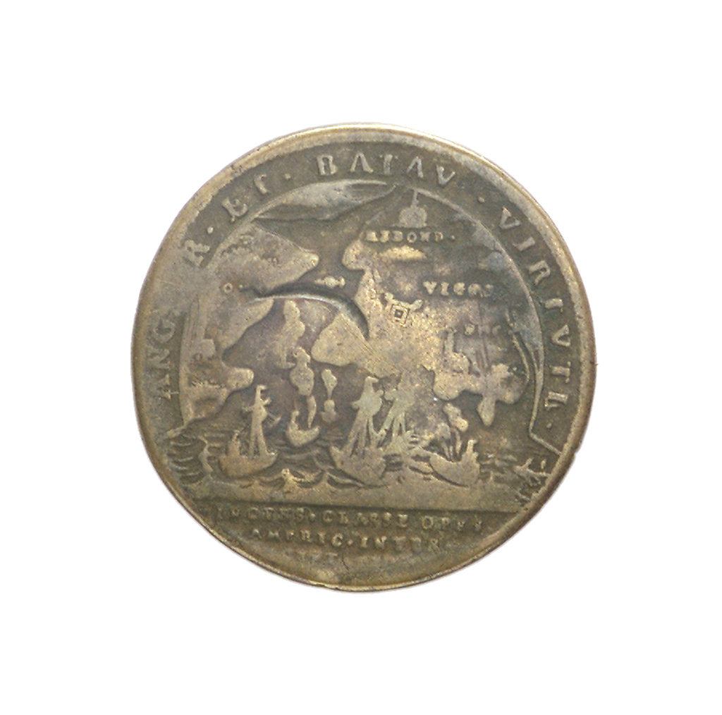 Detail of Counter commemorating the Expedition to Vigo Bay, 1702; reverse by J.G. Lauffer