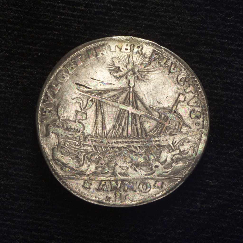 Detail of Counter commemorating the blockade of the Dardanelles, 1646; reverse by I.A. Batagia