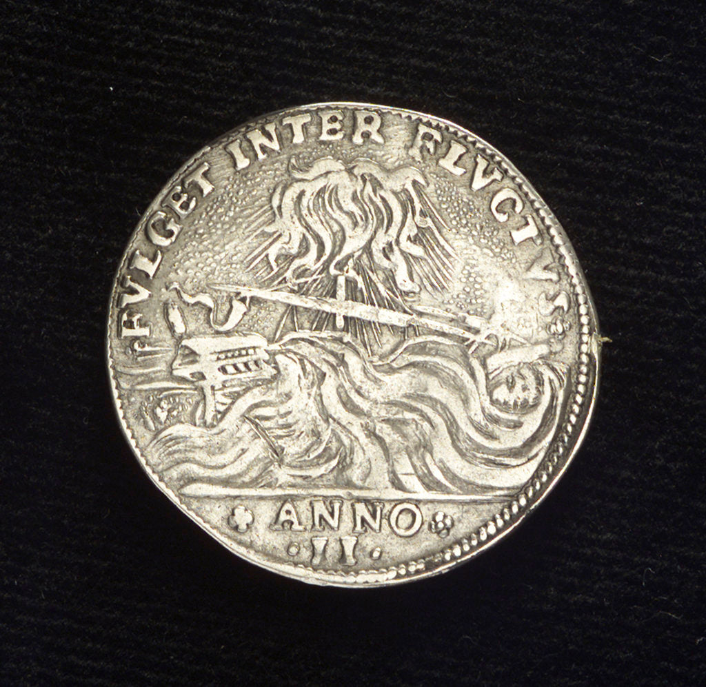Detail of Counter commemorating the naval activity in the Levant, 1647; reverse by Zan Antonio Zorzi