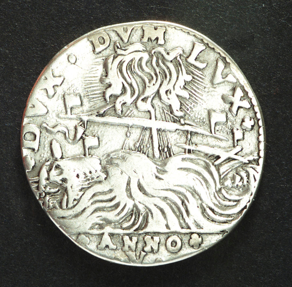 Detail of Counter commemorating the naval events in the Levant, 1647; reverse by Benetto Corner