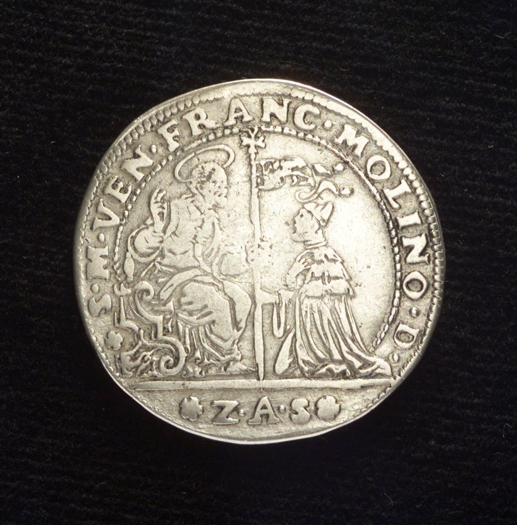 Detail of Counter commemorating the Battle of Paros, 1651; obverse by Z.A. Semitecolo
