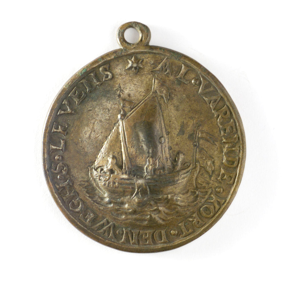 Detail of Badge of the Boatmen's Guild of the City of Hertogenbosch; obverse by unknown
