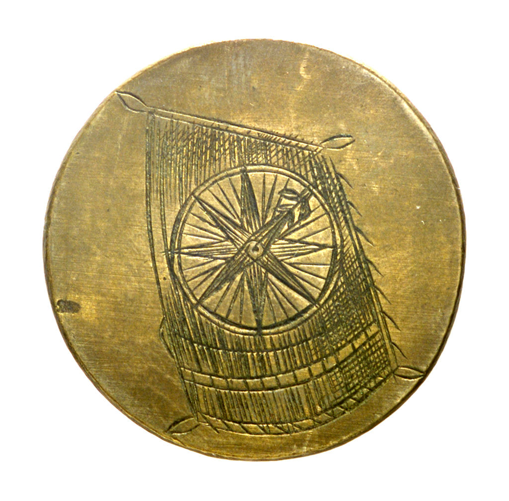 Detail of Badge of the Compass and Sailmakers guild of Amsterdam; obverse by unknown